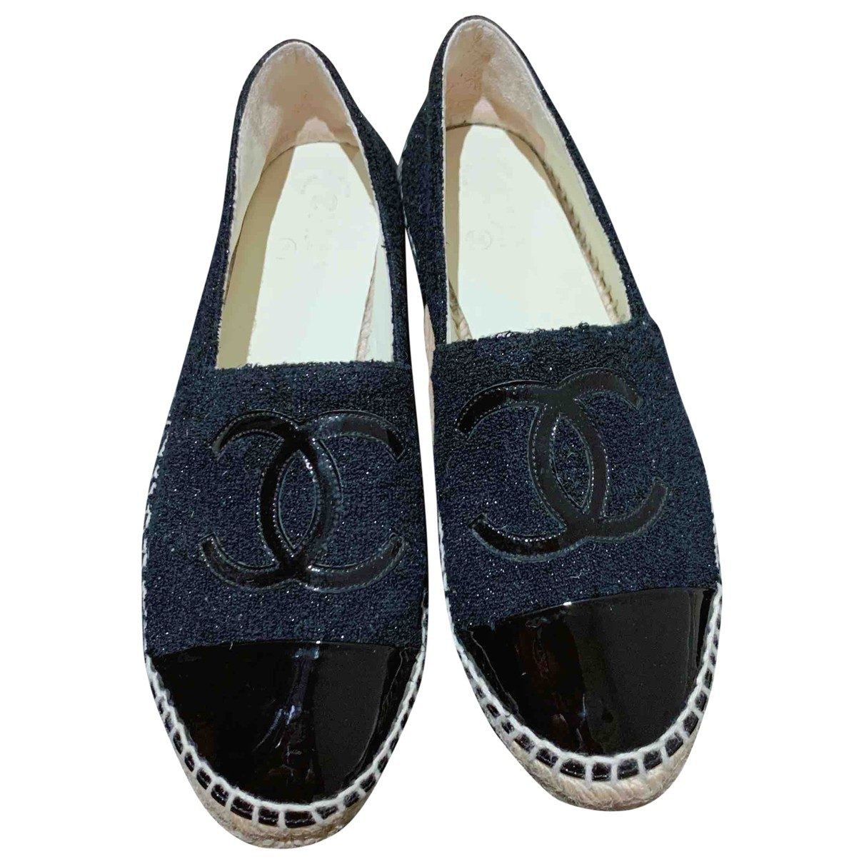 Chanel \N Black Cloth Espadrilles for Women 38 EU