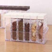 6 Stuecke Transparente Gewuerzaufbewahrungsbox