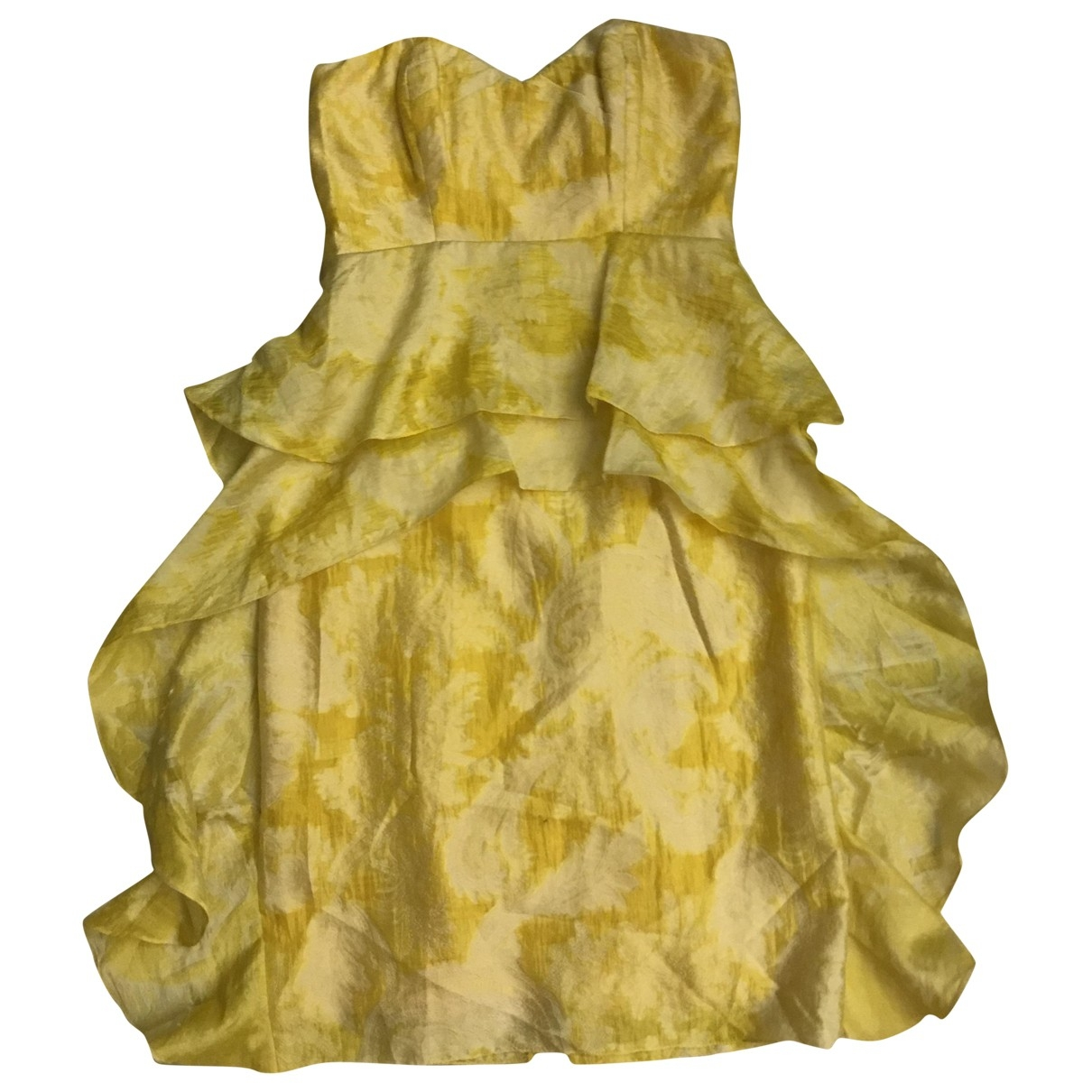 Badgley Mischka \N Kleid in  Gelb Synthetik