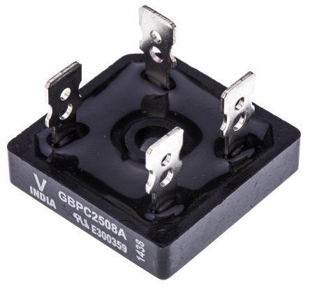 Vishay VS-GBPC2508A, Bridge Rectifier, 25A 800V, 4-Pin GBPC-A