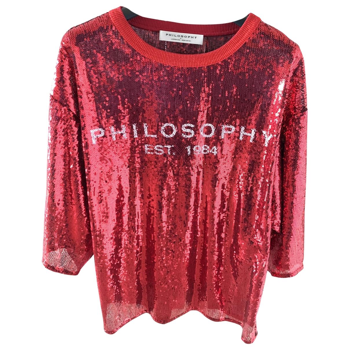 Philosophy Di Lorenzo Serafini \N Red Glitter  top for Women 38 IT