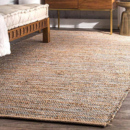 nuLoom Hand Woven Tarver Rug, One Size , Silver