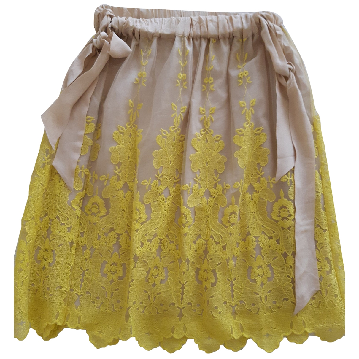 Hoss Intropia \N Yellow Silk skirt for Women 36 FR