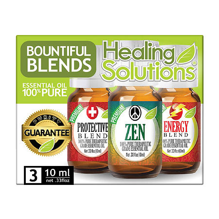 Healing Solutions Bount Blends 3 - Protect; Zen; Energy Essential Oil, One Size , No Color Family