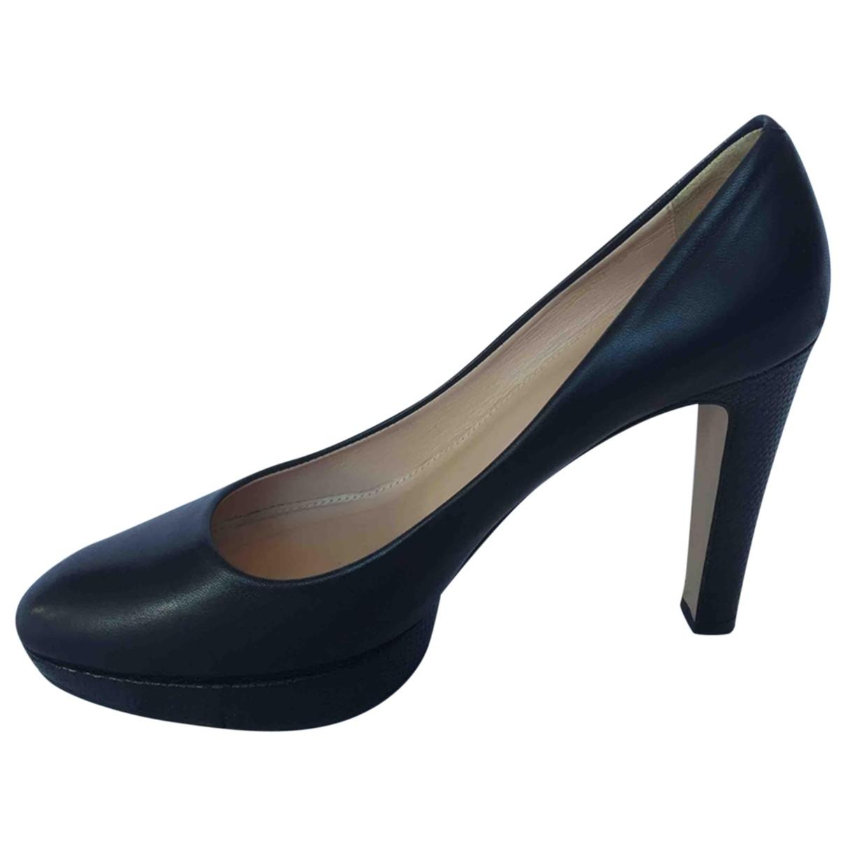 Boss - Escarpins   pour femme en cuir - noir