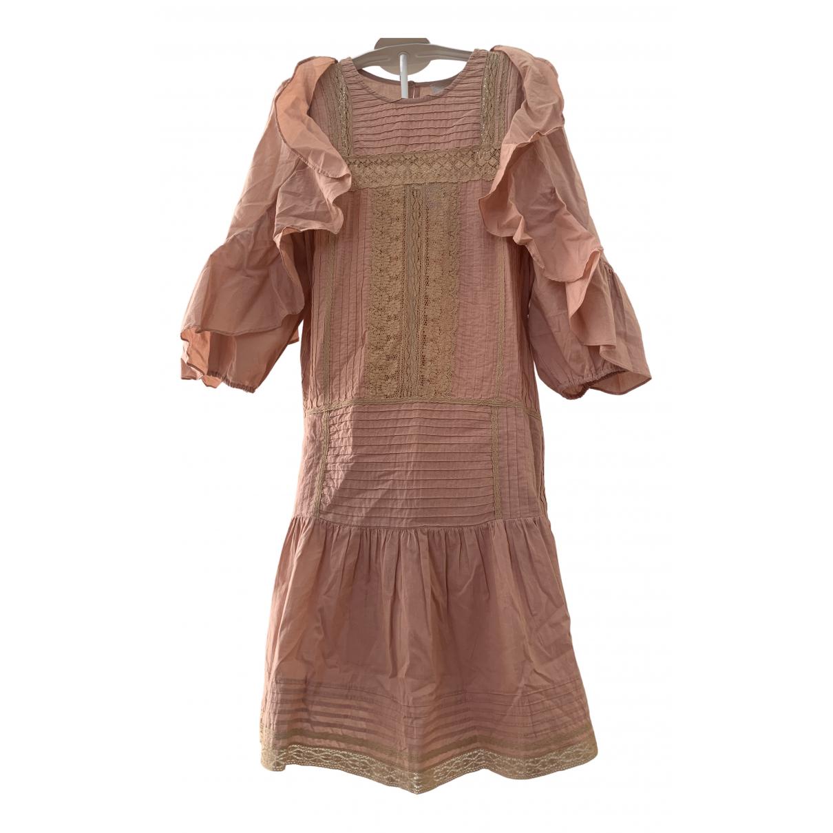 Vanessa Bruno \N Kleid in  Beige Baumwolle