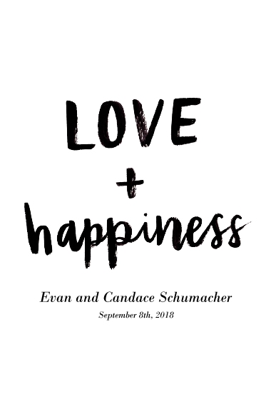 Non-Photo 24x36 Adhesive Poster, Home Décor -Love+Happiness