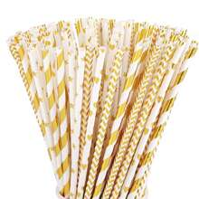 100pcs Holiday Decorative Disposable Paper Straw