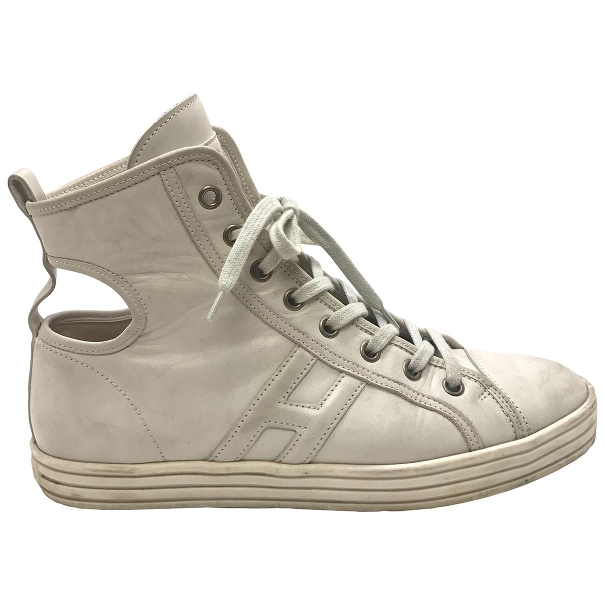 Hogan \N White Leather Trainers for Women 37 EU
