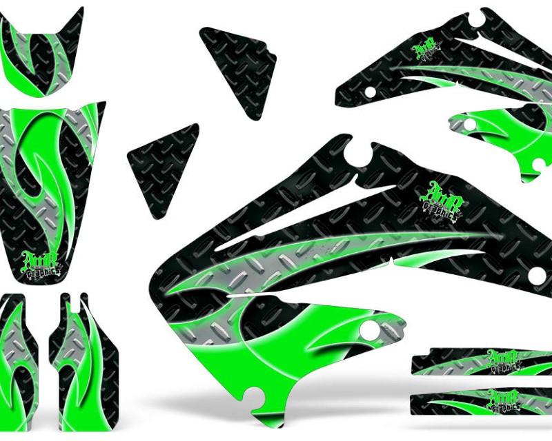 AMR Racing Dirt Bike Graphics Kit Decal Sticker Wrap For Honda CRF450R 2002-2004áTRIBAL GREEN BLACK