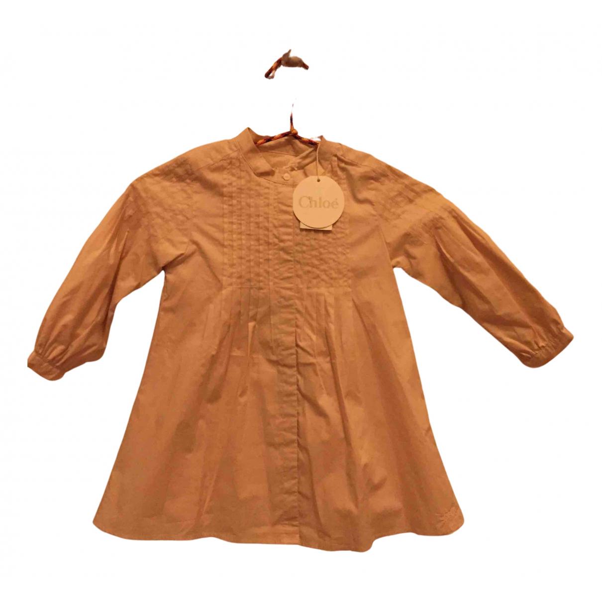 Chloe - Robe    pour enfant en coton - beige