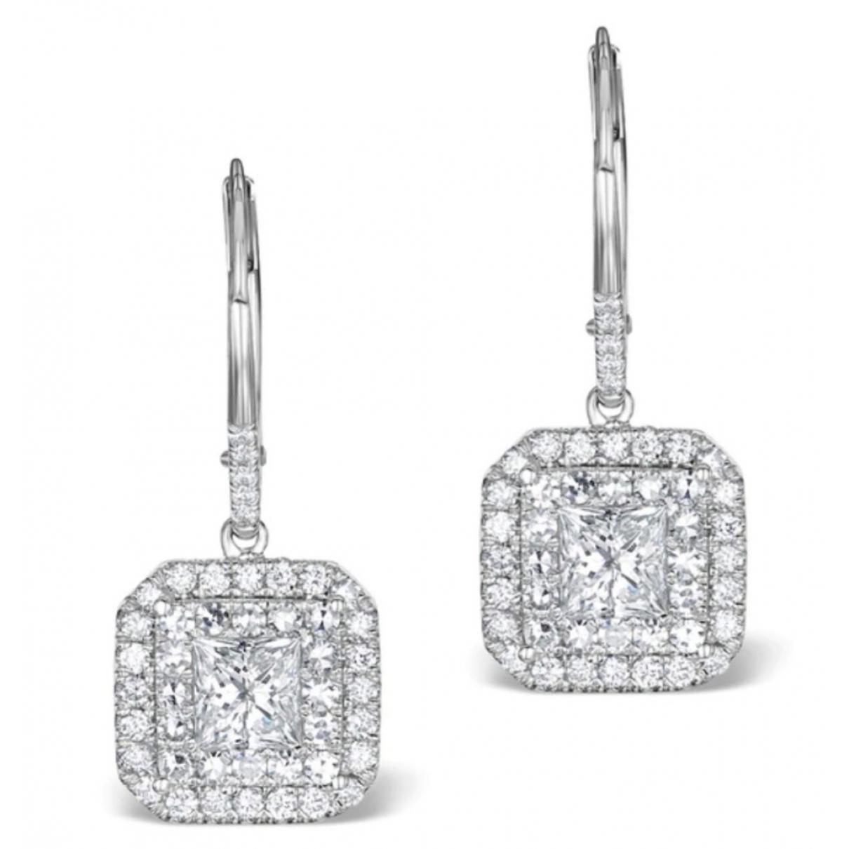 Non Signé / Unsigned Dormeuses White White gold Earrings for Women \N