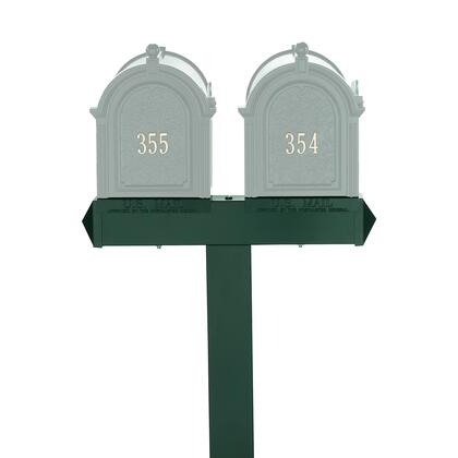16066 Aluminum Dual Mailbox Extended Post in