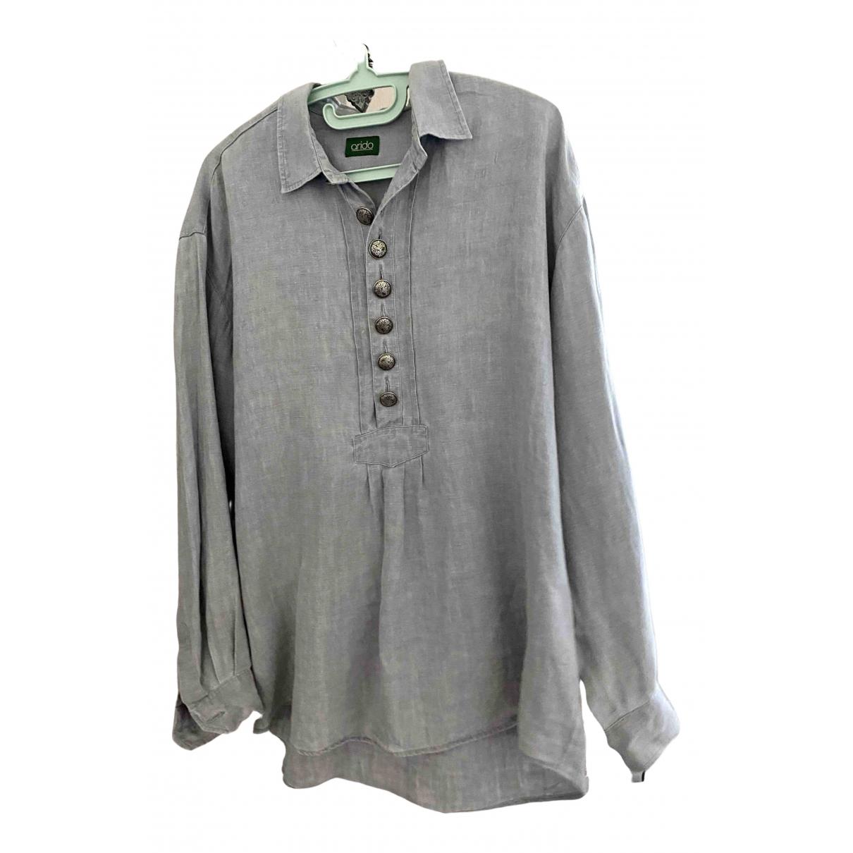 - Chemises   pour homme en lin - gris