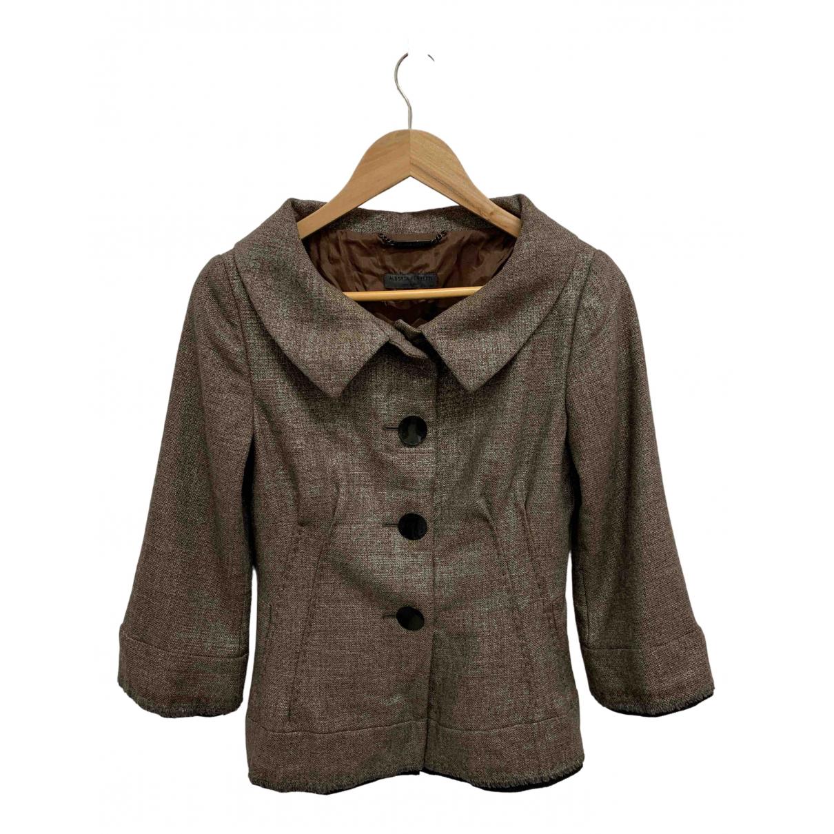 Alberta Ferretti - Veste   pour femme en laine - marron