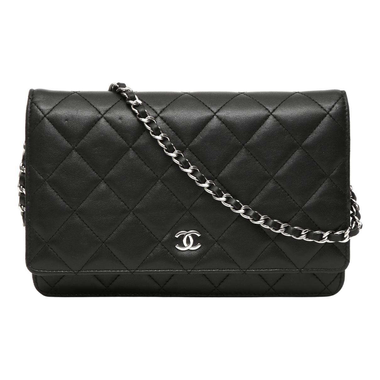 Chanel Wallet on Chain Black Leather handbag for Women N