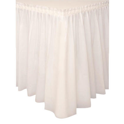 Party Plastic Table Skirt Solid Color Ivory 29