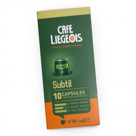 """Kaffeekapseln Cafe Liegeois """"Subtil"""", 10 Stk."""