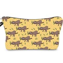 Cartoon Sloth Print Pencil Case