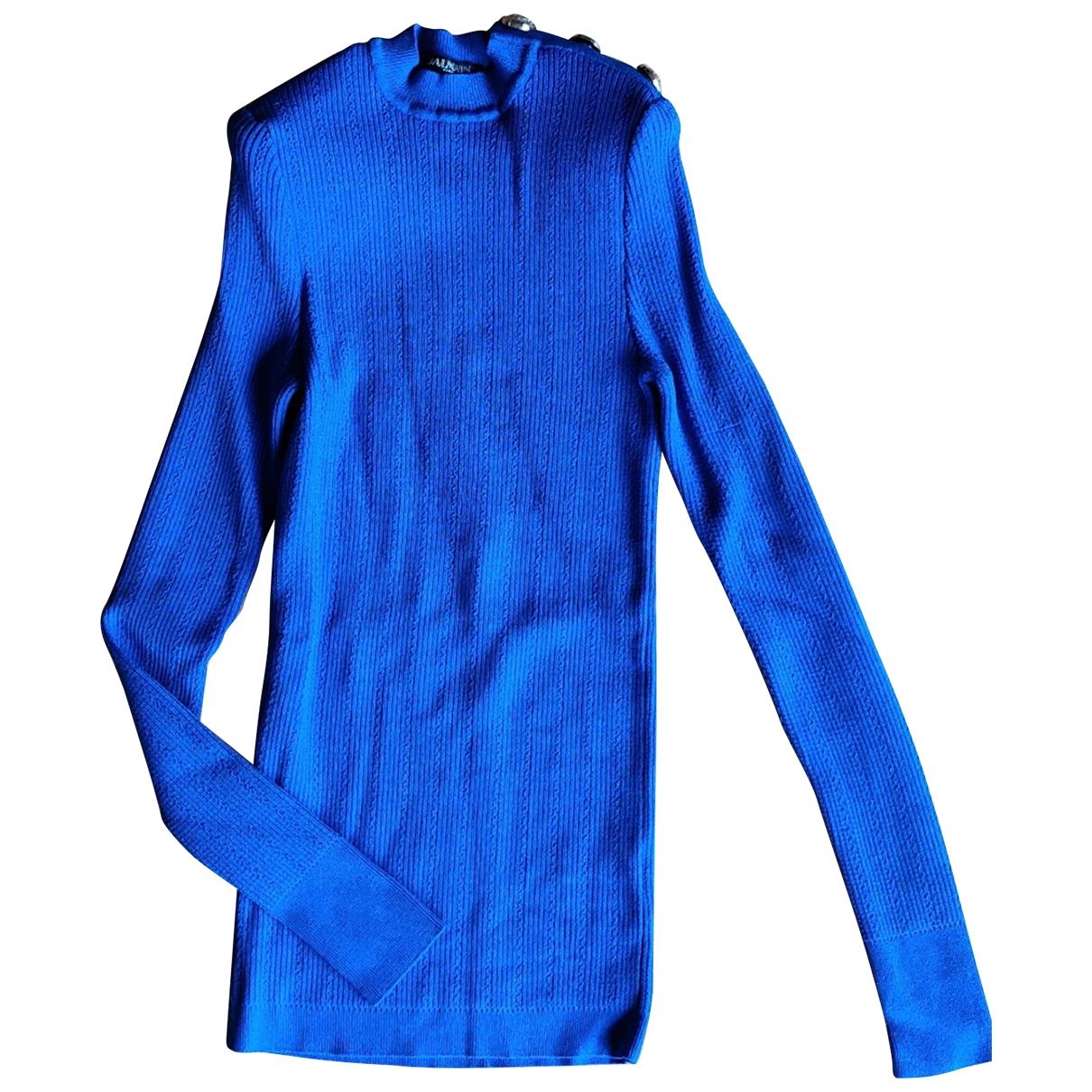 Balmain - Pull   pour femme - bleu