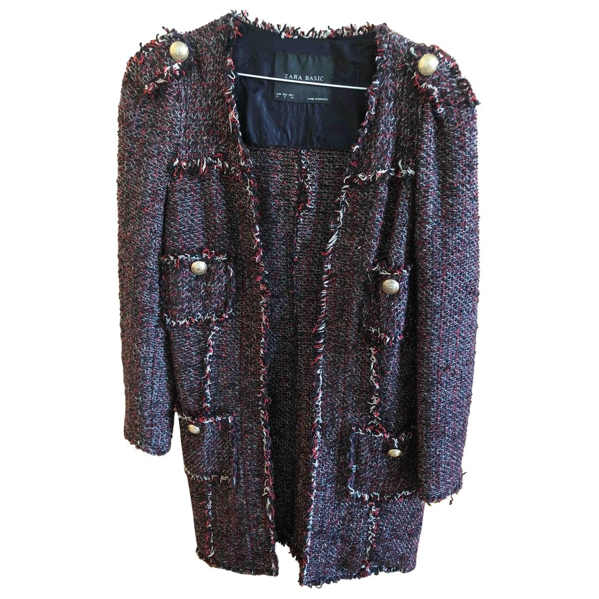 Zara - Veste   pour femme en tweed - multicolore