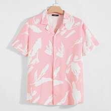 Men Revere Collar Allover Print Shirt