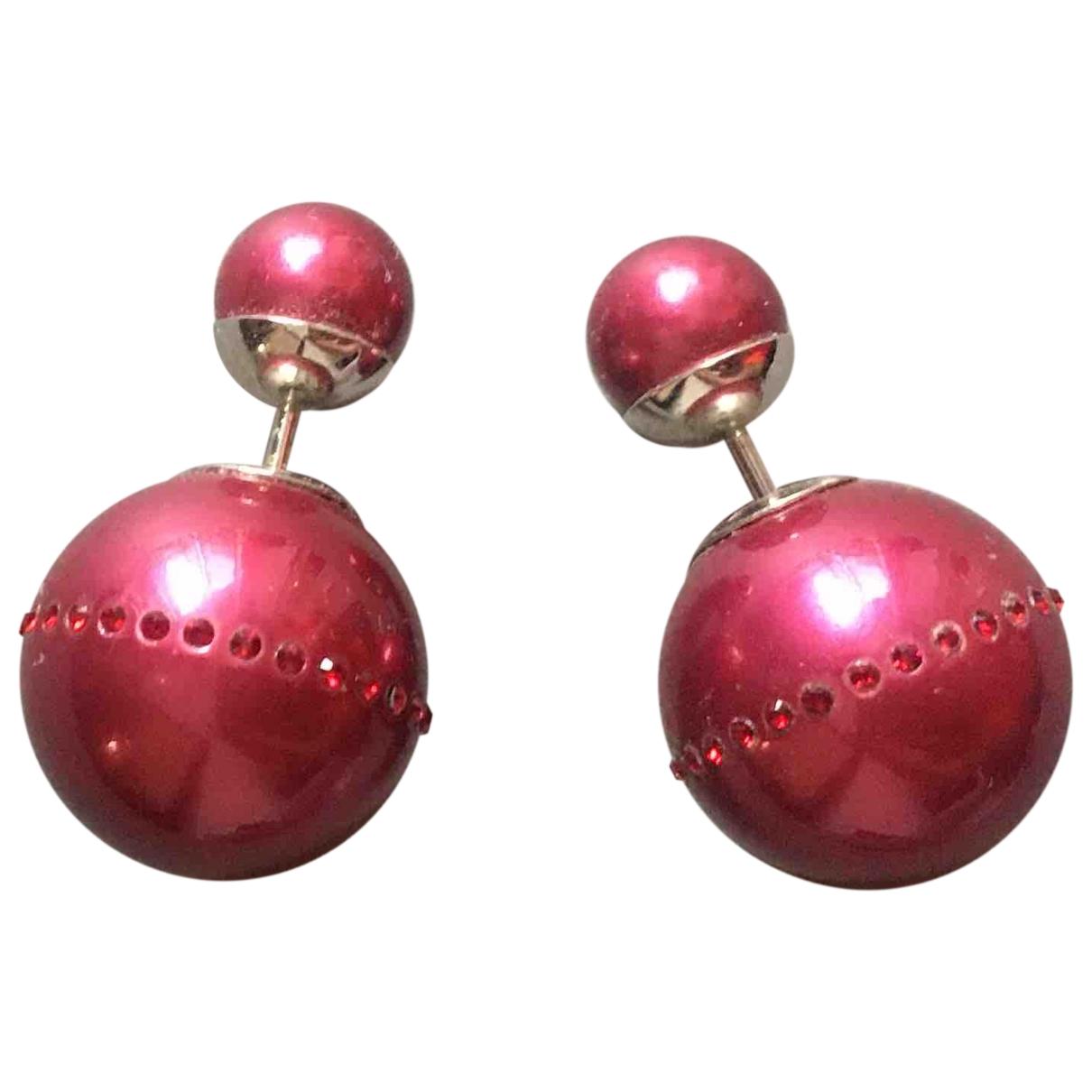 Dior - Boucles doreilles Tribal pour femme en perle - rose