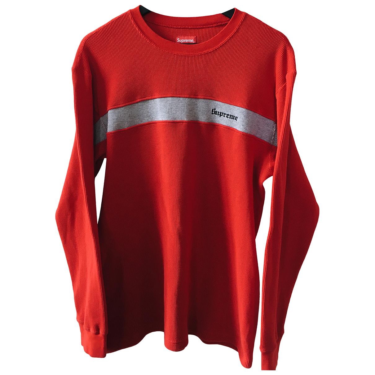 Supreme - Pulls.Gilets.Sweats   pour homme en coton - rouge