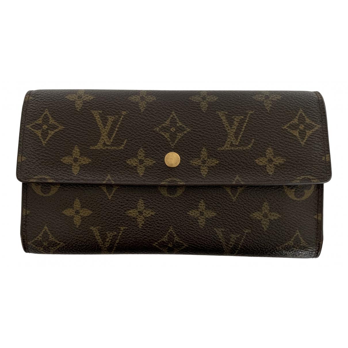 Louis Vuitton - Portefeuille Sarah pour femme en toile - marron