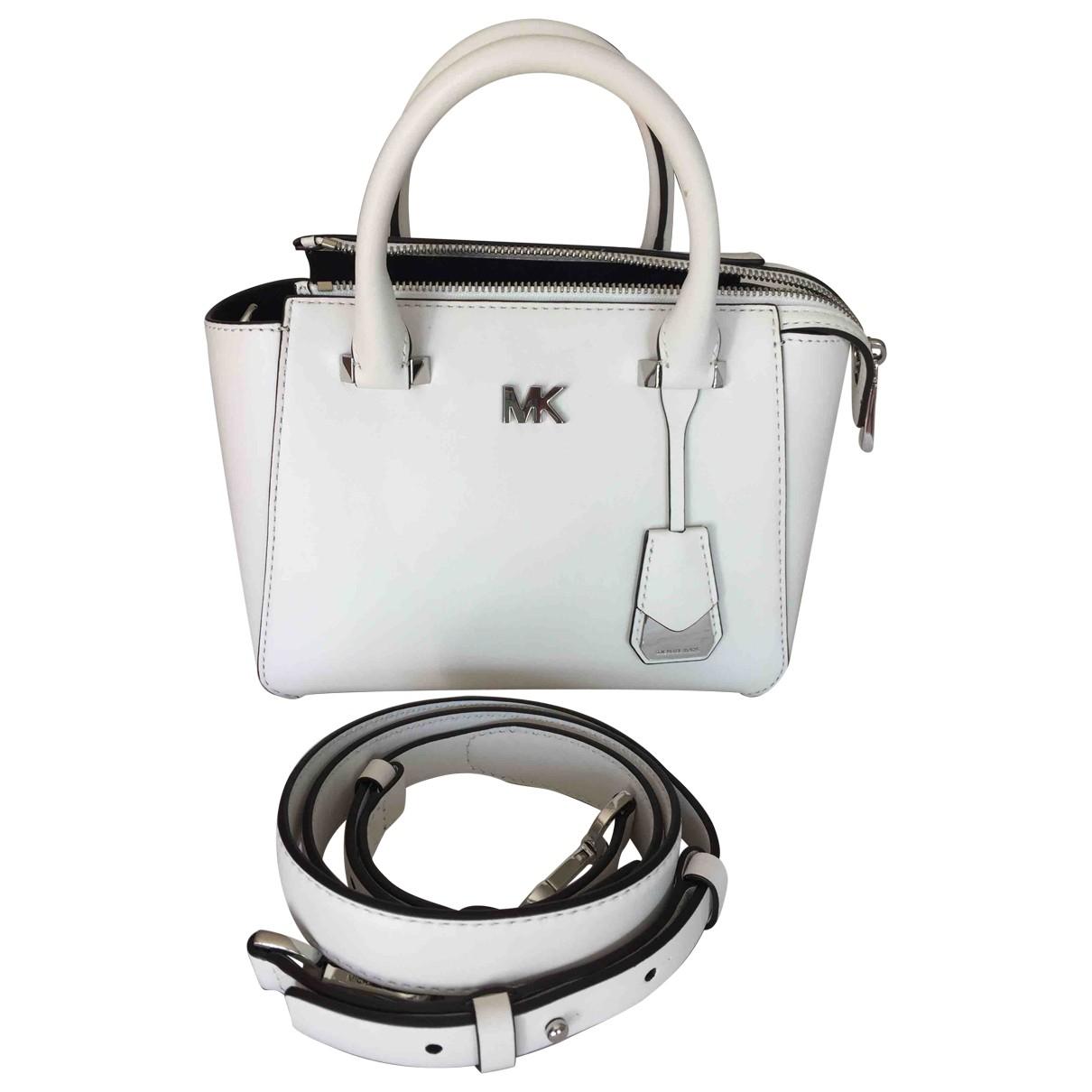 Michael Kors \N Handtasche in  Weiss Leder