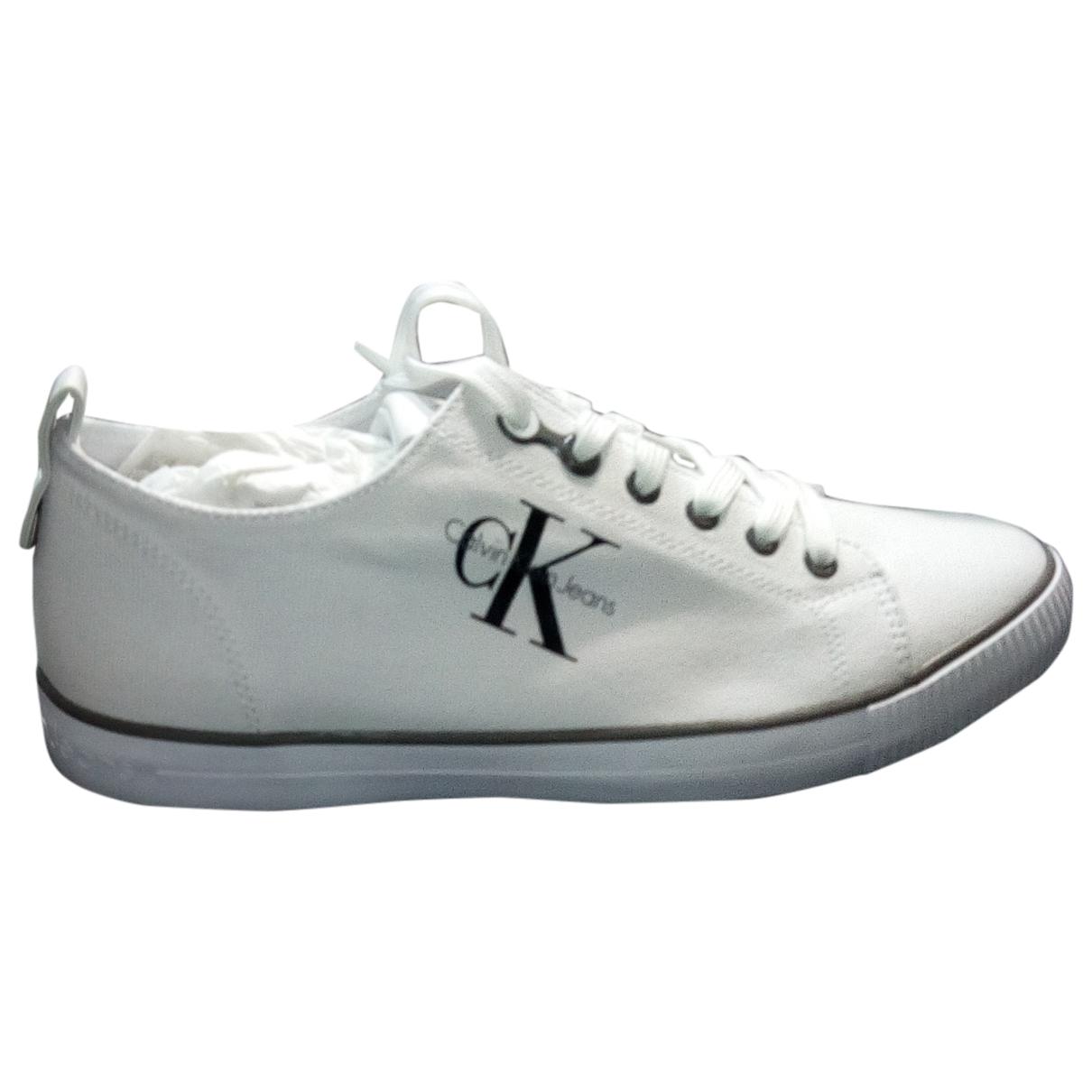 Calvin Klein \N Sneakers in  Weiss Leinen