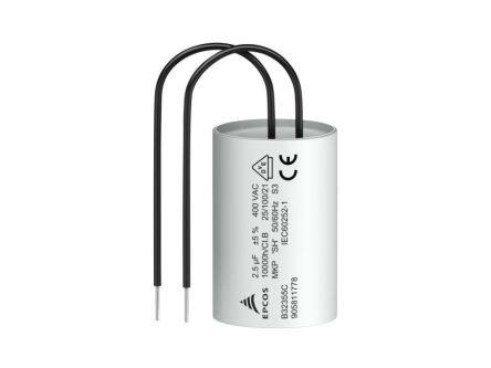 EPCOS 3μF Polypropylene Capacitor PP 400V ac ±5% Tolerance Through Hole B32355C Series (2)
