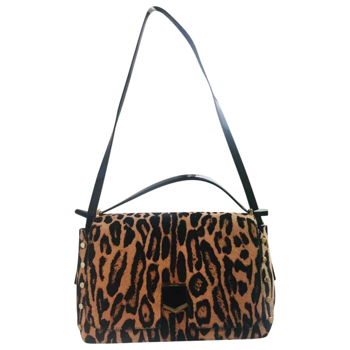 Jimmy Choo Lockett Brown Pony-style calfskin handbag for Women \N
