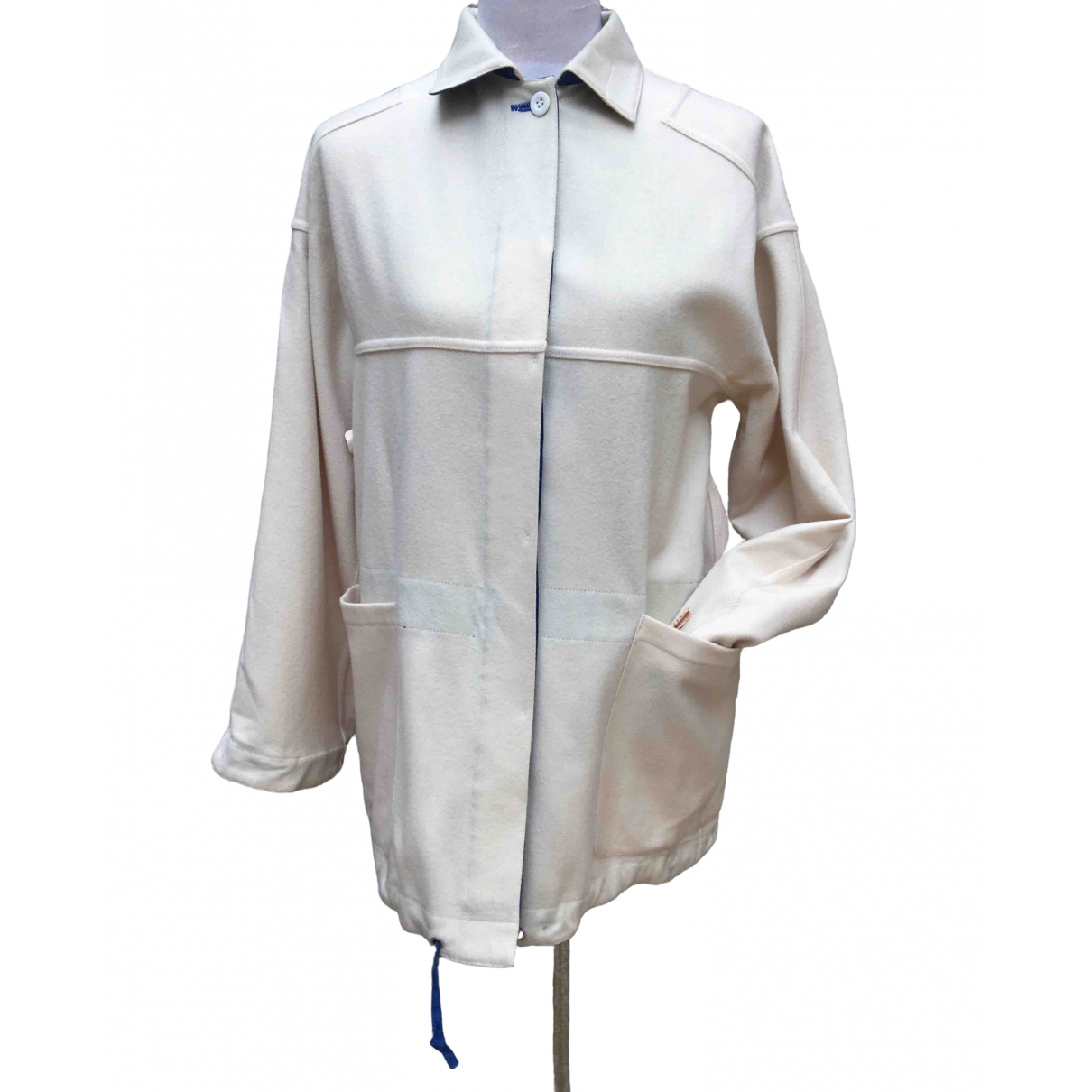 - Veste Oversize pour femme en laine - ecru