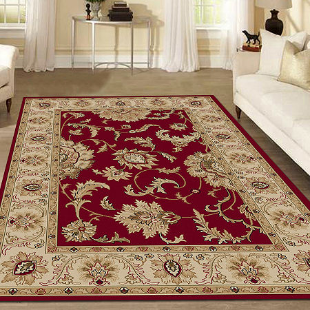 Como Abstract Traditional Oriental Area Rug, One Size , Red