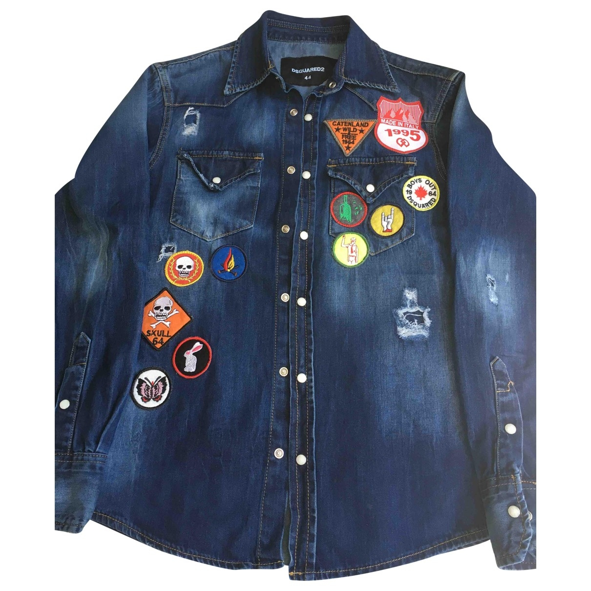 Dsquared2 \N Blue Denim - Jeans  top for Women 44 IT