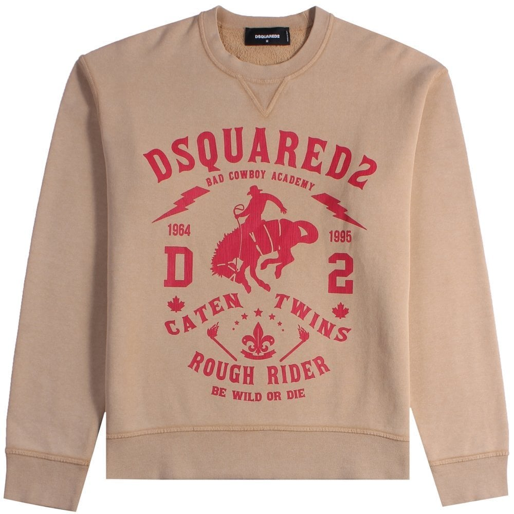 Dsquared2 Rough Rider Sweatshirt Colour: BLACK, Size: EXTRA LARGE
