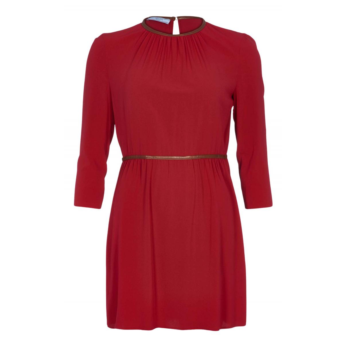 Prada \N Kleid in  Rot Seide