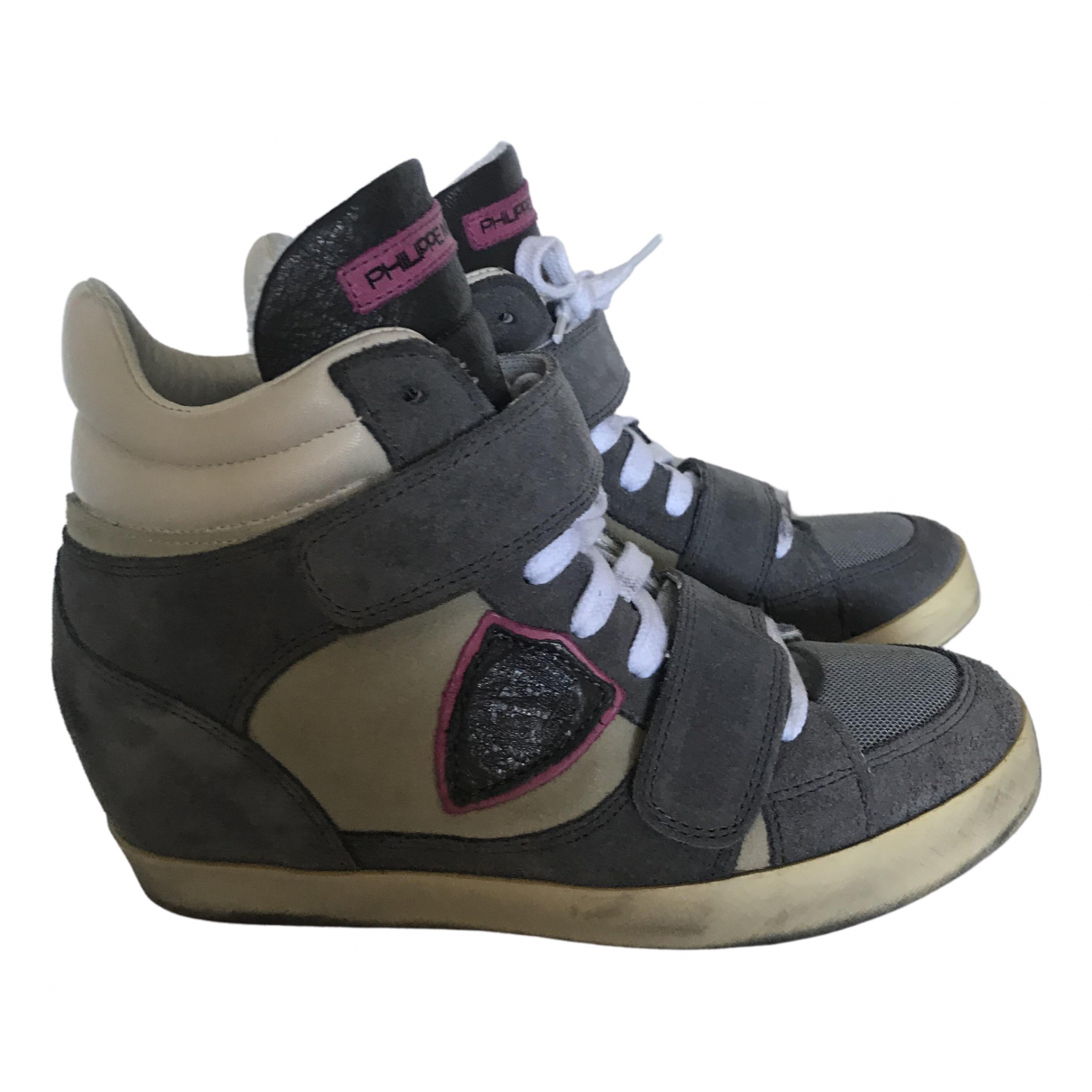 Philippe Model \N Sneakers in  Grau Veloursleder