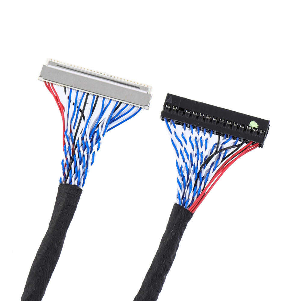 FIX-30P-DO8 30 Pin 2CH 8-bit Commonly For 17 19 22 23.6 Inch Screen Cable LVDS LCD Driver Board