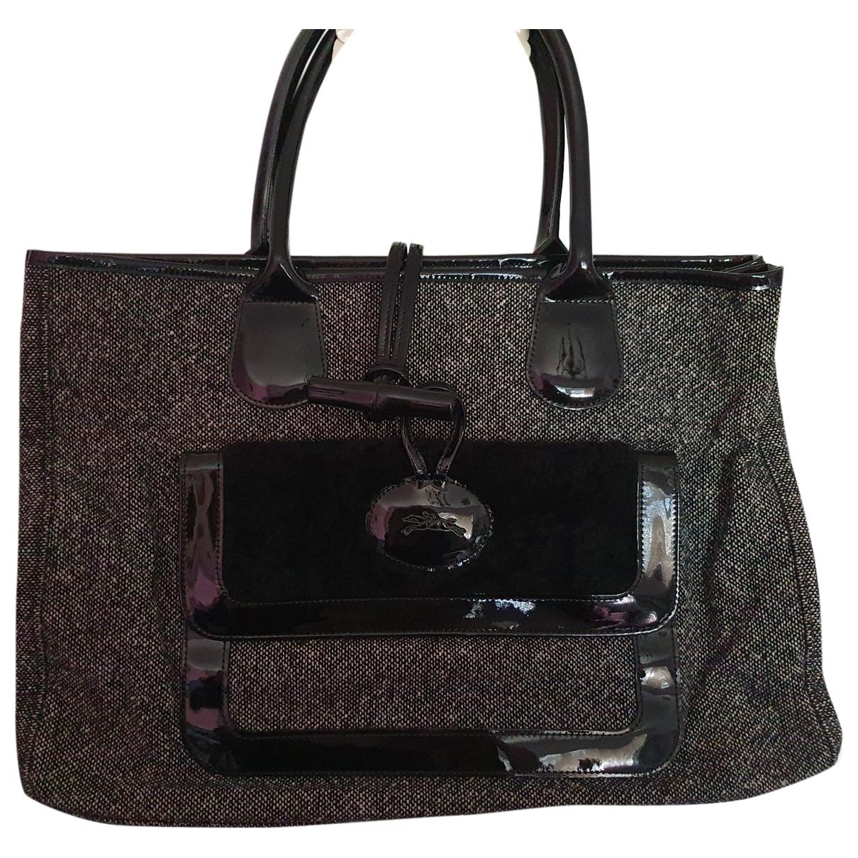 Longchamp Roseau Black Cotton handbag for Women \N