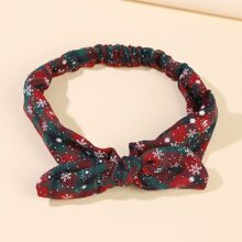 Christmas Snowflake & Plaid Pattern Headband