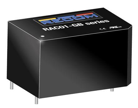 Recom , 1W Encapsulated Switch Mode Power Supply, 12V dc, Encapsulated