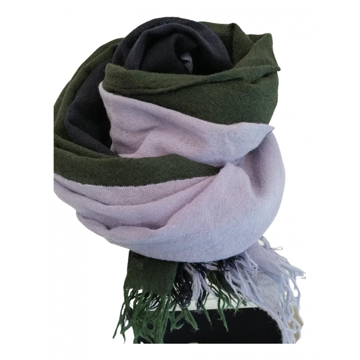 Ys - Foulard   pour femme en laine - noir
