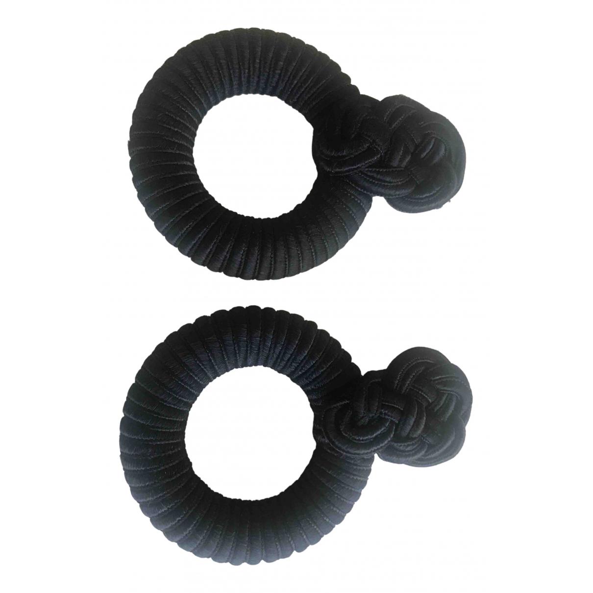 - Boucles doreilles   pour femme en soie - marine