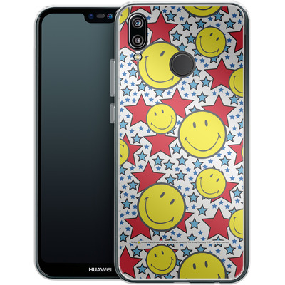 Huawei P20 Lite Silikon Handyhuelle - Preppy Colors von Smiley®