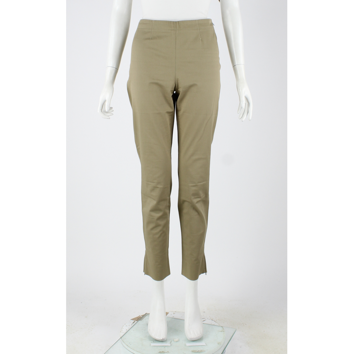 Miu Miu N Khaki Cotton Trousers for Women 42 FR