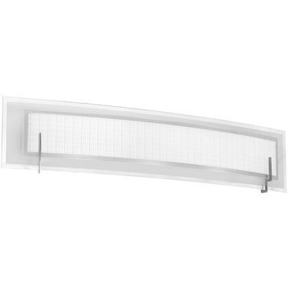 V038-4W-SC 4 Light Vanity  Satin Chrome  Frosted Glass & Linen