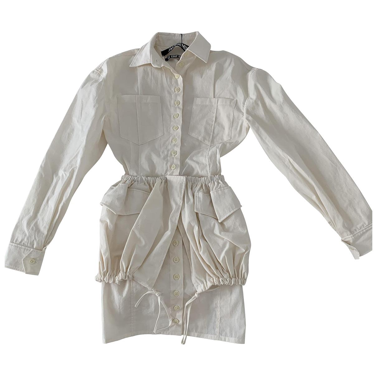 Jacquemus Le coup de soleil White dress for Women 32 FR