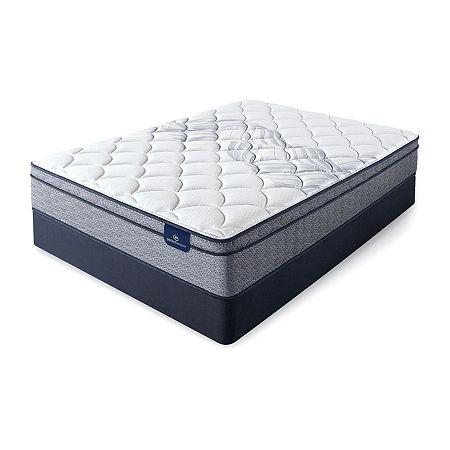 Serta Perfect Sleeper Birchview Eurotop - Mattress + Box Spring, One Size , Blue
